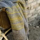 Grey Gold 100% Wool Throw Federico