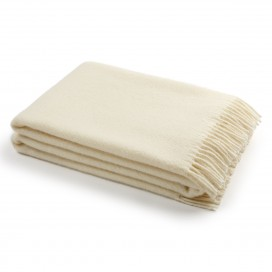 Ivory Wool Throw Paula