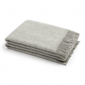 Silver Wool Throw Paula