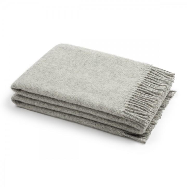 Silver Wool Throw Paula