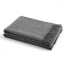 Grey Wool Throw Paula