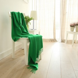 Parrot Green Baby Alpaca Throw Bella