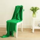 Parrot Green Baby Alpaca Throw Bella