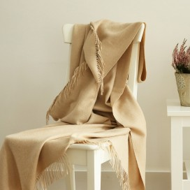 Soft Brown Baby Alpaca Throw Bella