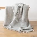 Silver Pure New Wool Throw Paula