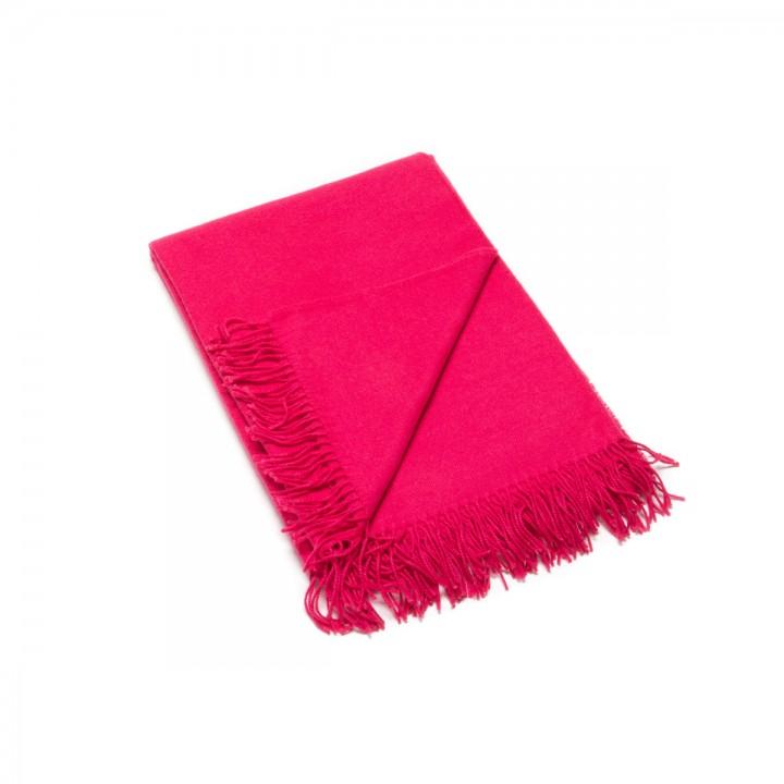 Bright Pink Baby Alpaca Throw Bella