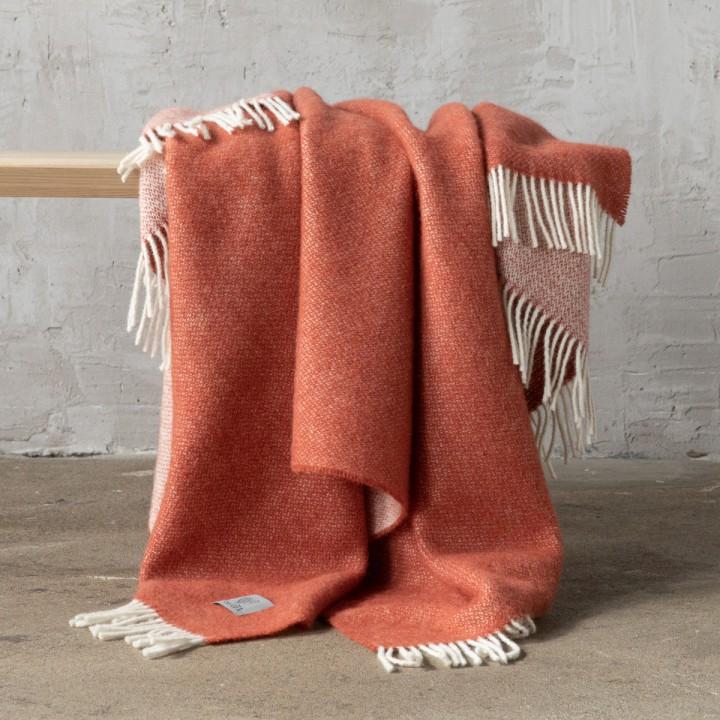 Rust Wool Throw Roberto