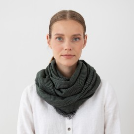Pure Merino Wool Scarf Luciano Green