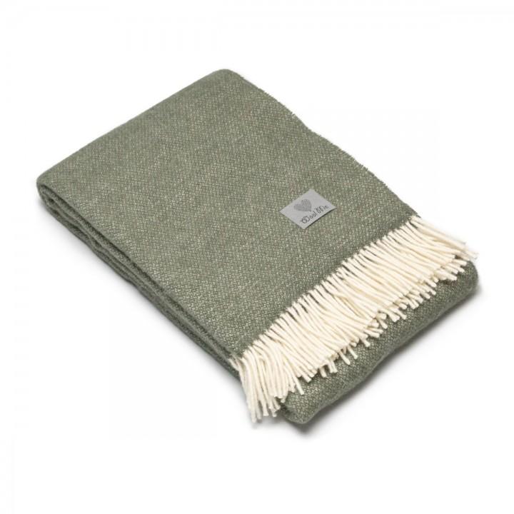 Moss Green Wool Throw Roberto