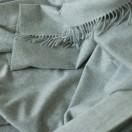 100% Cashmere Throw Vesuvio Silver
