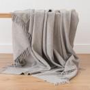 100% Cashmere Throw Vesuvio Grey
