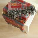 Red Green Merino Wool Throw Marta