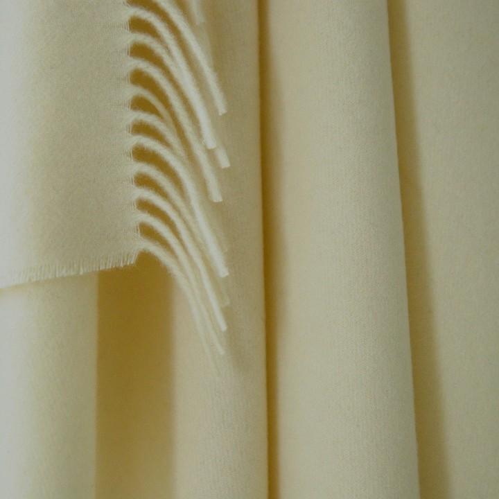 100% Cashmere Throw Vesuvio Ivory