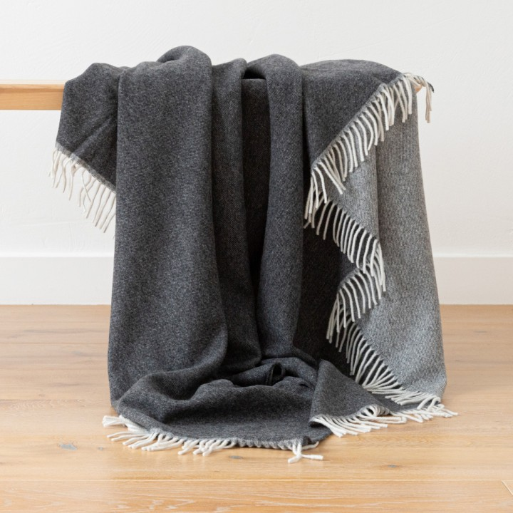 Cashmere Wool Throw Anthrazite Ernesto