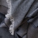 Cashmere Wool Throw Indigo Salvatore