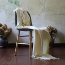 Ivory Baby Alpaca Throw Bella