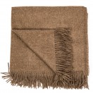 Brown Baby Alpaca Throw Bella