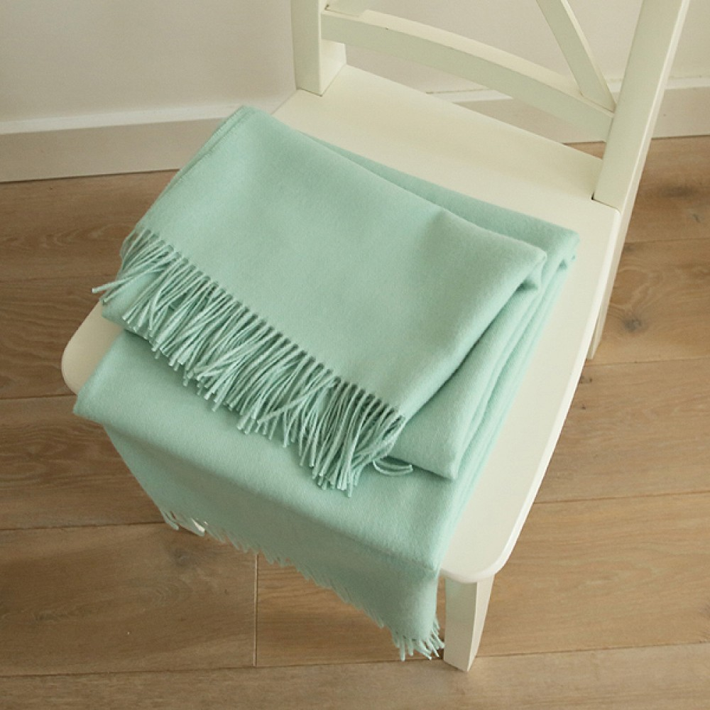 Mint Baby Alpaca Throw Bella Throws and blankets WoolMe