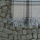 Grey Baby Alpaca Throw Bella Square