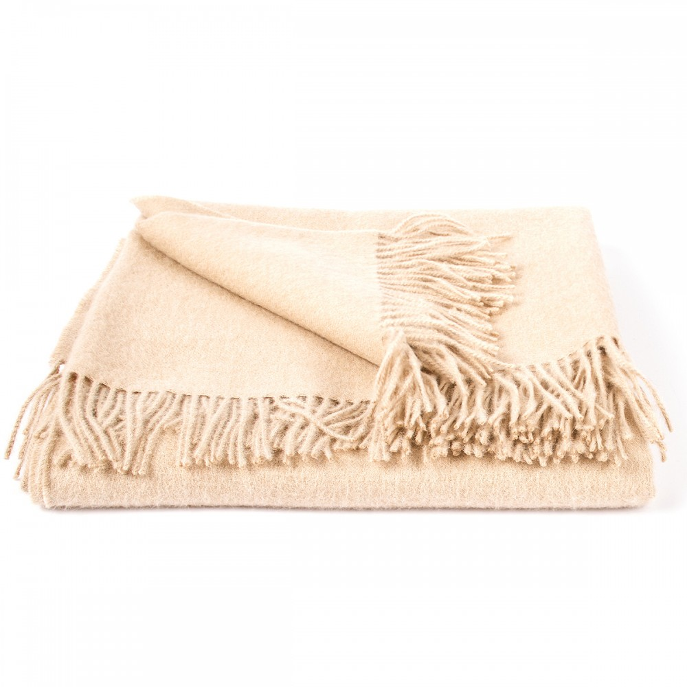 Soft brown baby alpaca throw bella woolme for Soft blankets and throws