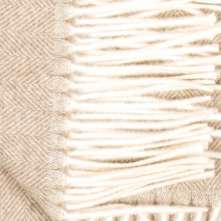 Everest Herringbone - beiges Kaschmirplaid