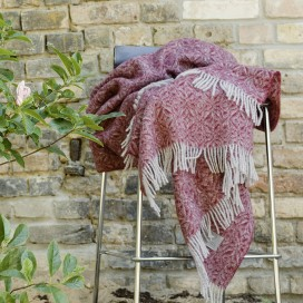 Bordo Pure New Wool Throw Ottavio