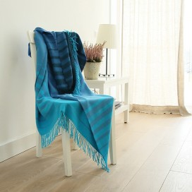 Blues Baby Alpaca Throw Bella Stripes