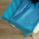 Blues Baby Alpaca Throw Bella Stripes