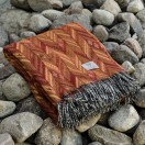 Orange Merino Wool Throw Marcello