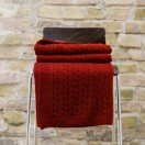 Bordo Merino Throw Alessandra