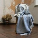 Steel Grey Wool Throw Roberto