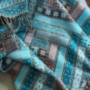 Turquoise Merino Wool Throw Marta