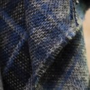 Check Wool Throw Adriano Blue
