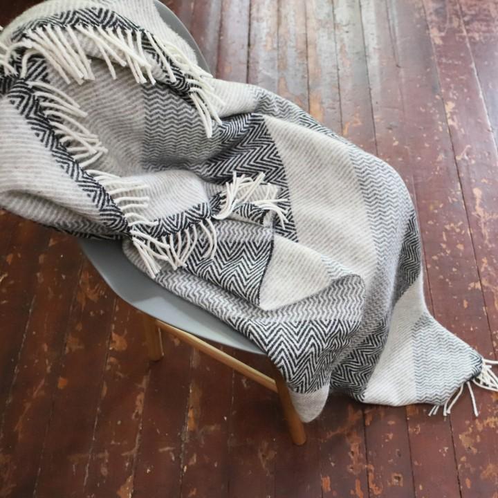 Wool Throw Valentino Grey