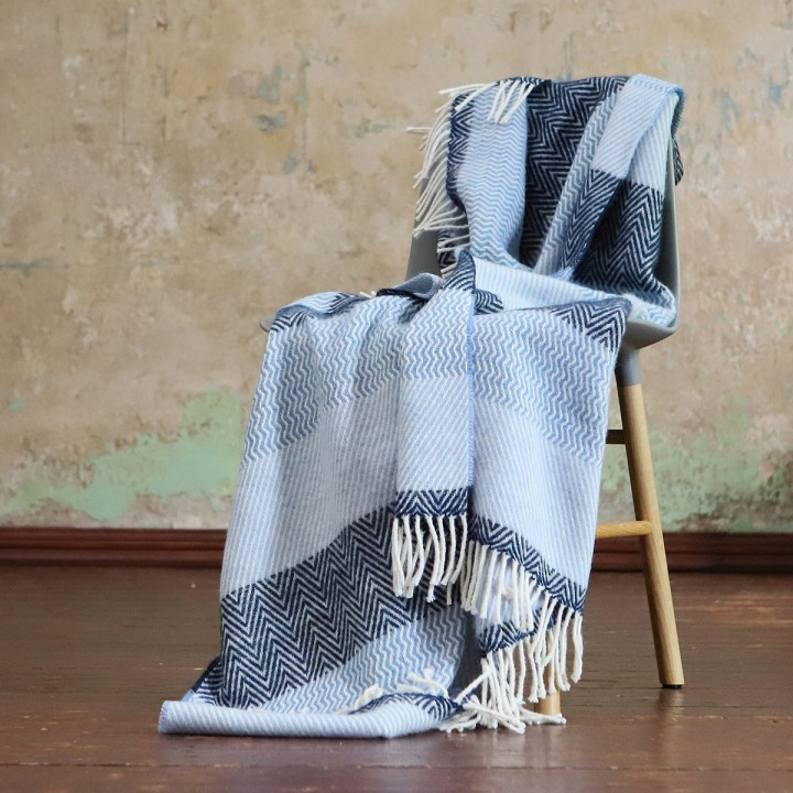 Wool Throw Valentino Blue