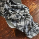 Alpaca Wool Throw Leonardo Grey