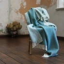 Spa Green Wool Throw Roberto