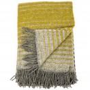 Grey Gold Wool Throw Alberto
