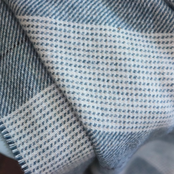 Wool Throw Indigo Luigi