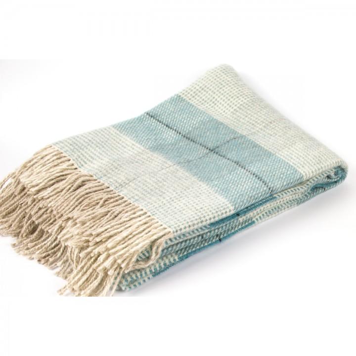 Wool Throw Aqua Luigi