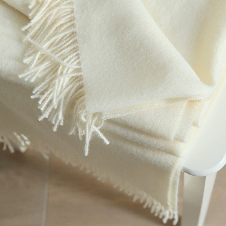 Ivory Baby Alpaca Throw Bella