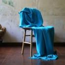 Turquoise Baby Alpaca Throw Bella