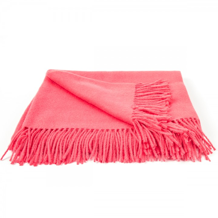 Coral Baby Alpaca Throw Bella