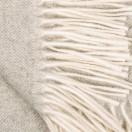 Silver Cashmere Throw Everest Herringbone