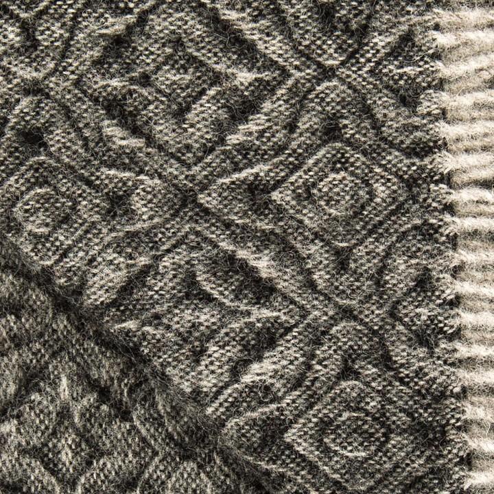 Black Pure New Wool Throw Ottavio