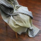 Grey Gold Wool Throw Alberto