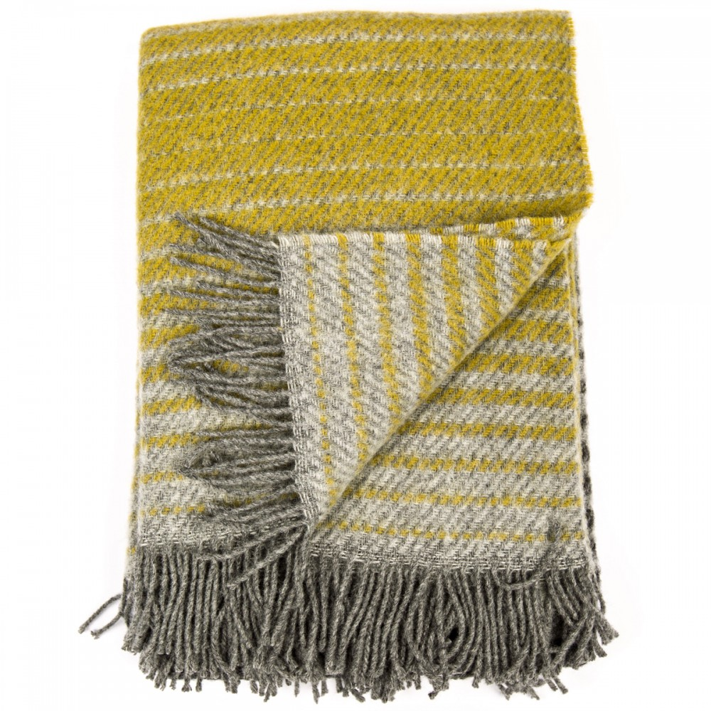 Grey Gold 100 Wool Throw Alberto Woolme