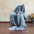 Dark Slate Wool Throw Sergio