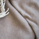 Taupe Wool Throw Roberto