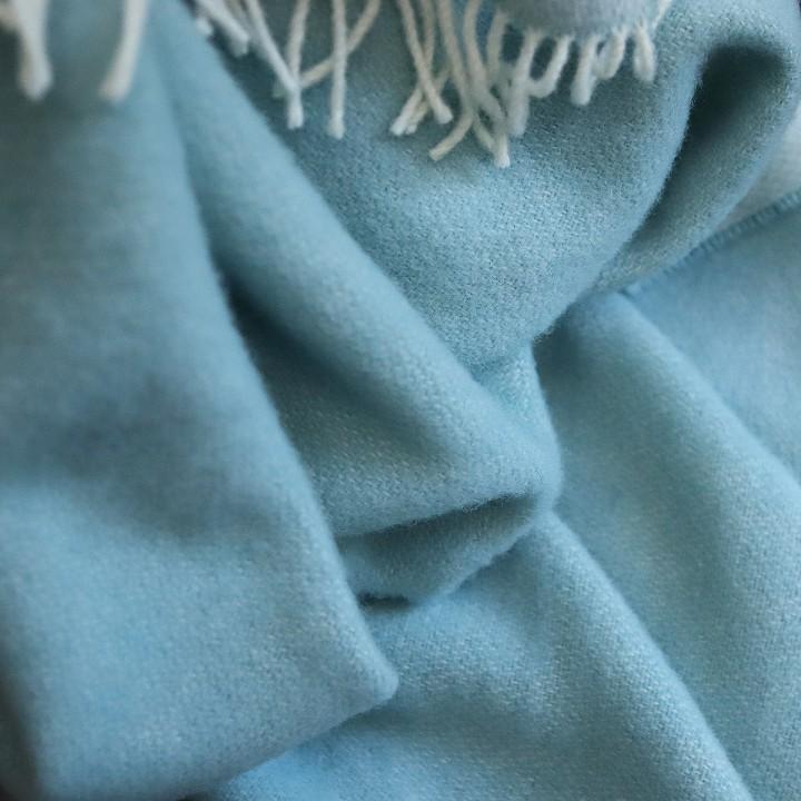 Aqua Wool Throw Roberto